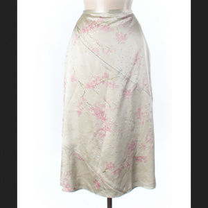 Banana Republic Silk Floral Blossom MidiMaxi Skirt